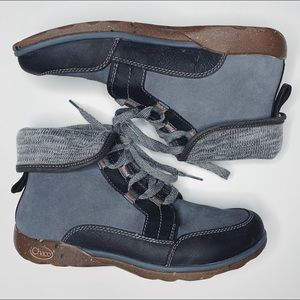 Chaco Barbary women's grey fold down boots